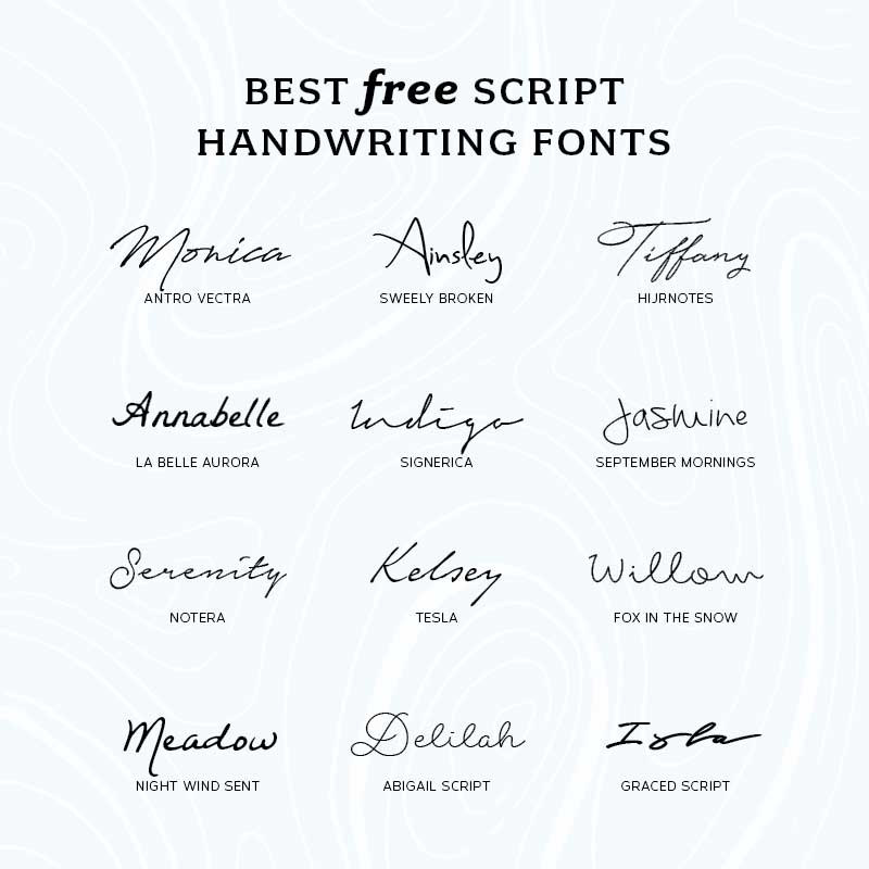 Best Free Script Handwriting Fonts