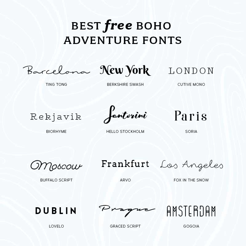 Best Free Boho Adventure Fonts