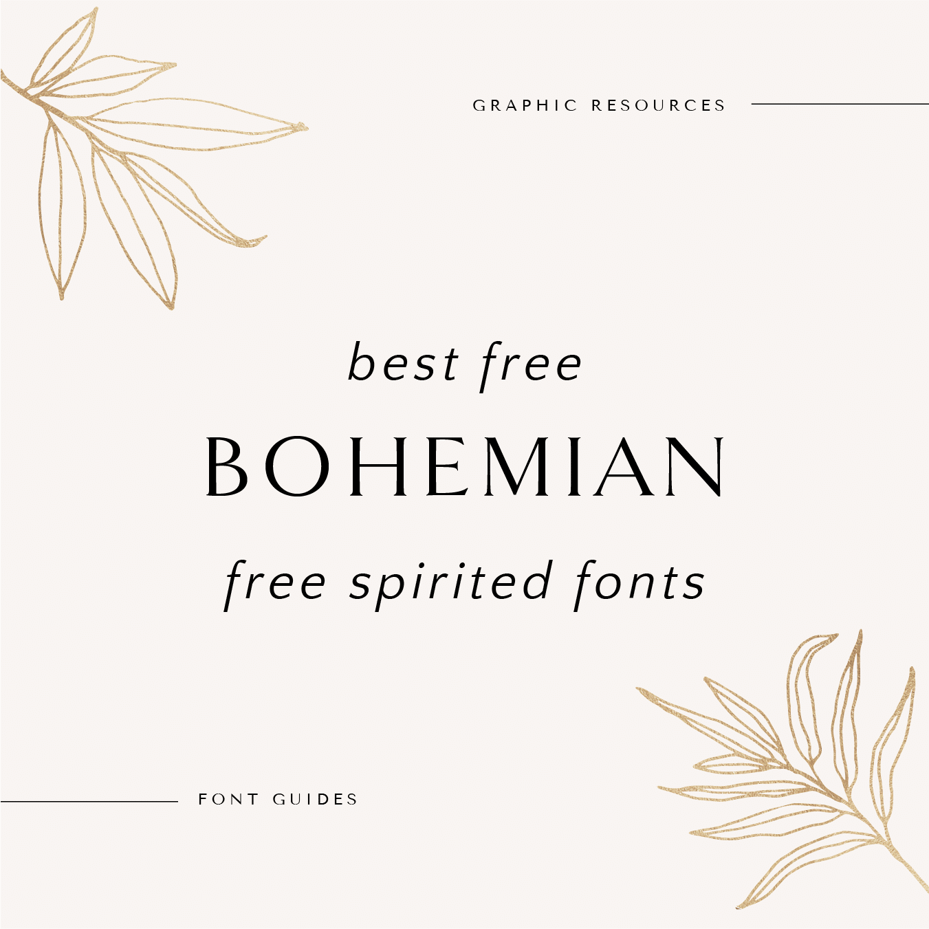 Best Free Bohemian Free Spirited Fonts